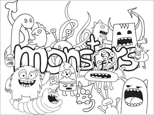 Colouring poster Monster Club