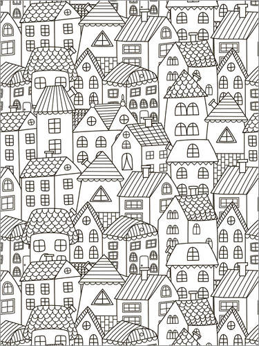 Colouring posters My little town