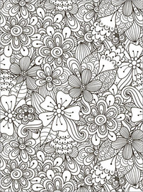 Colouring poster Flower meadow