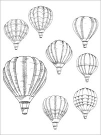Colouring posters  Hot air balloons