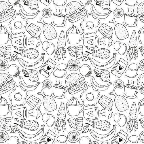 Colouring poster Many small delicacies