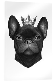 Acrylic glass  Queen French bulldog - Valeriya Korenkova
