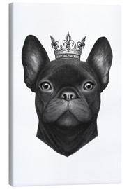 Canvas  Queen French bulldog - Valeriya Korenkova