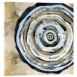 Acrylic print  Wood Slice Abstract - SpaceFrog Designs