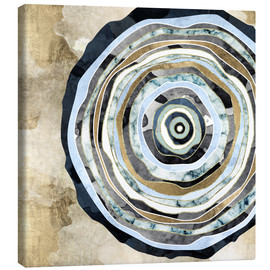 Canvas print  Wood Slice Abstract - SpaceFrog Designs