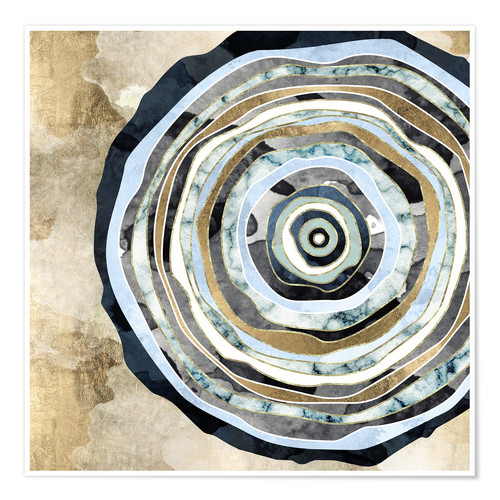 Premium poster Wood Slice Abstract
