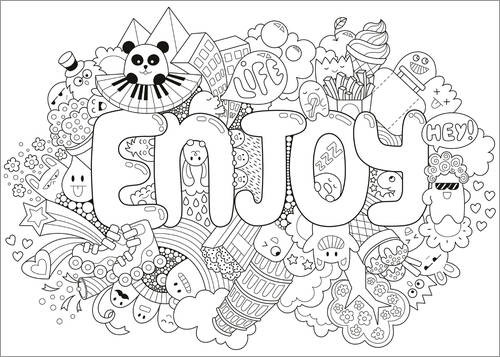 Colouring posters Enjoy
