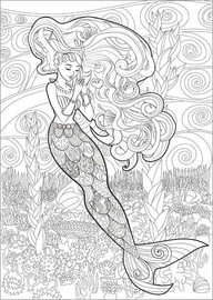 Colouring poster The little mermaid