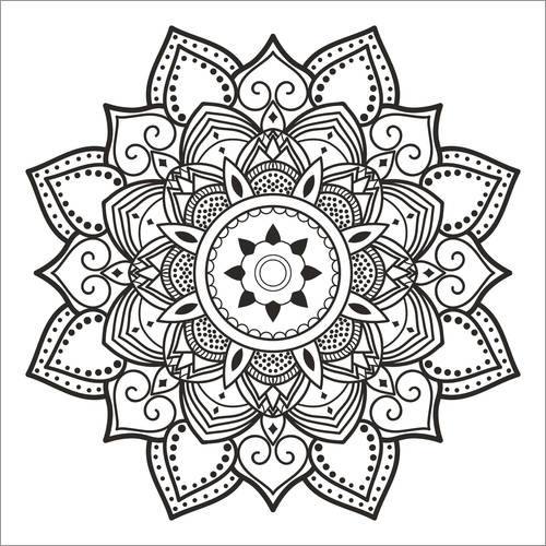 Colouring posters Mandala