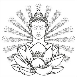 Colouring posters  Buddha and Lotus