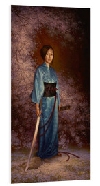 Foam board print  The Blue Kimono - Christophe Vacher