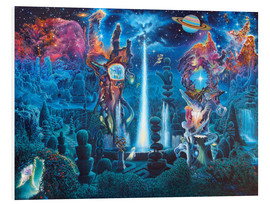 Foam board print  The Garden In The Valley Of The Stars - James McCarthy