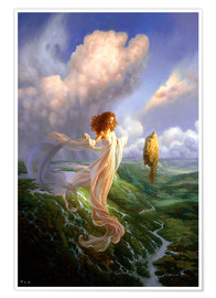 Premium poster  Mistress of the Wind - Christophe Vacher