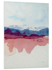 Foam board print  View to blue and mauve - Jan Sullivan Fowler