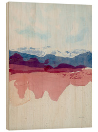 Wood print  View to blue and mauve - Jan Sullivan Fowler