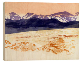 Wood print  Mountains - Jan Sullivan Fowler