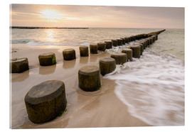 Acrylic print  Sunset on the Baltic Sea - Martin Wasilewski