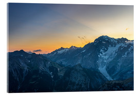 Acrylic print  Monte Bianco or Mont Blanc at sunrise, italian side - Fabio Lamanna