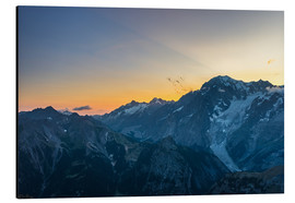 Aluminium print  Monte Bianco or Mont Blanc at sunrise, italian side - Fabio Lamanna