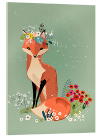 Acrylic print  Fox in the spring - Kidz Collection