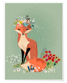 Premium poster  Fox in the spring - Kidz Collection