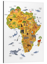 Aluminium print  African animals - Kidz Collection