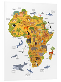 Foam board print  African animals - Kidz Collection
