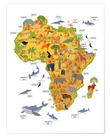 Premium poster  African animals - Kidz Collection