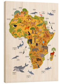 Wood print  African animals - Kidz Collection