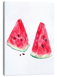 Canvas print  watercolor slices of watermelon