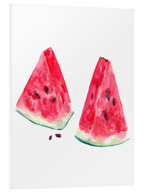 Forex  watercolor slices of watermelon