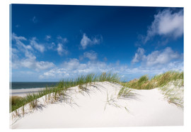 Acrylic print  Dunes in the summer wind - Reiner Würz