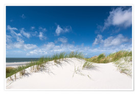 Premium poster  Dunes in the summer wind - Reiner Würz RWFotoArt