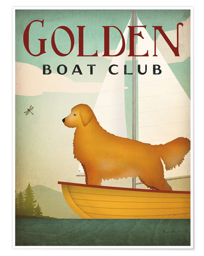 Premium poster Golden Boat Club