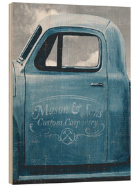 Wood  Lets Go for a Ride II Vintage Blue - James Wiens