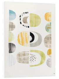 Foam board print  Pebbles pattern II - Melissa Averinos