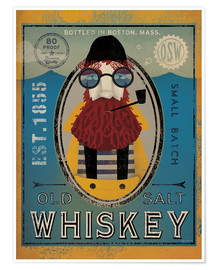 Poster  Fisherman IV Old Salt Whiskey - Ryan Fowler