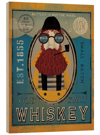 Wood print  Fisherman IV Old Salt Whiskey - Ryan Fowler