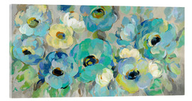 Acrylic glass  Fresh Teal Flowers - Silvia Vassileva
