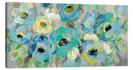 Canvas print  Fresh Teal Flowers - Silvia Vassileva
