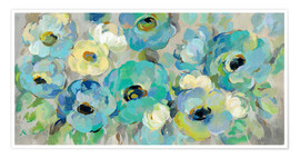 Premium poster Fresh teal flowers