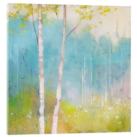 Acrylic print  Young trees in the spring I - Julia Purinton