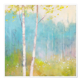 Premium poster  Young trees in the spring I - Julia Purinton