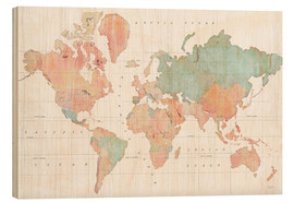 Wood print  Across the World III - Sue Schlabach