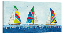 Canvas  Rainbow Spinnakers V - Courtney Prahl
