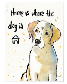 Poster  Home is where the dog is II - Anne Tavoletti