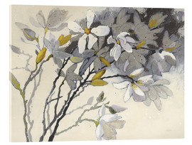 Acrylic glass  Magnolias Yellow Gray - Shirley Novak