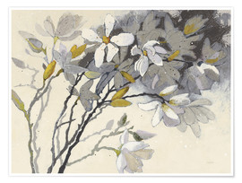 Premium poster  Magnolias Yellow Gray - Shirley Novak