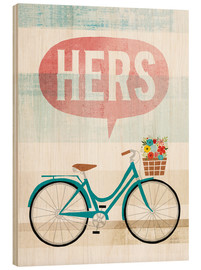 Wood print  Her bike II - Michael Mullan