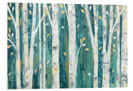Foam board print  Birches in Spring - Julia Purinton